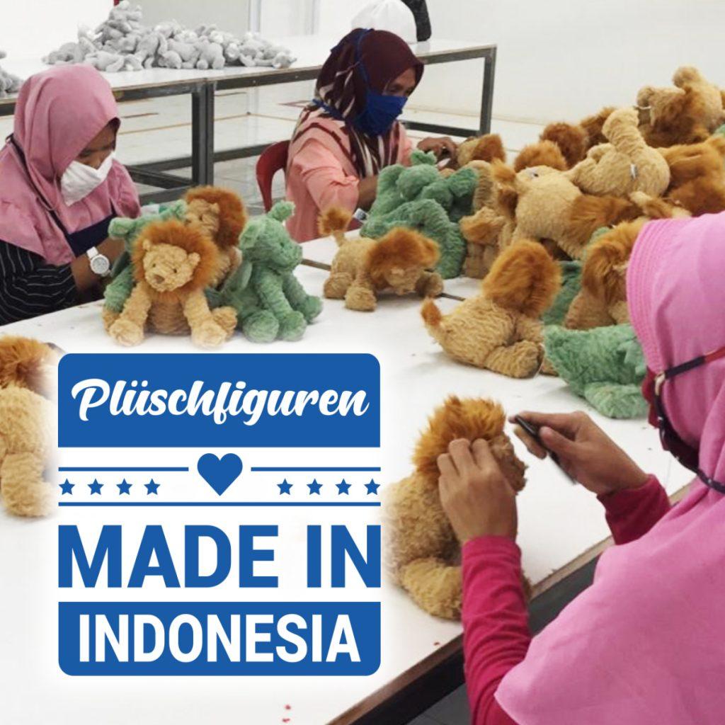 Plüschfiguren Made in Indonesia