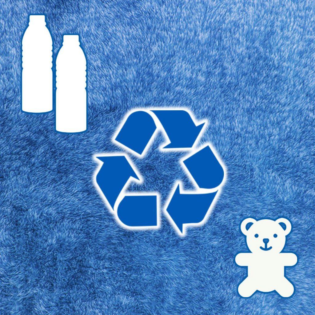Umweltschutz: Auf Wunsch setzen wir gern Plüsch aus recycelten PET Einwegflaschen ein
